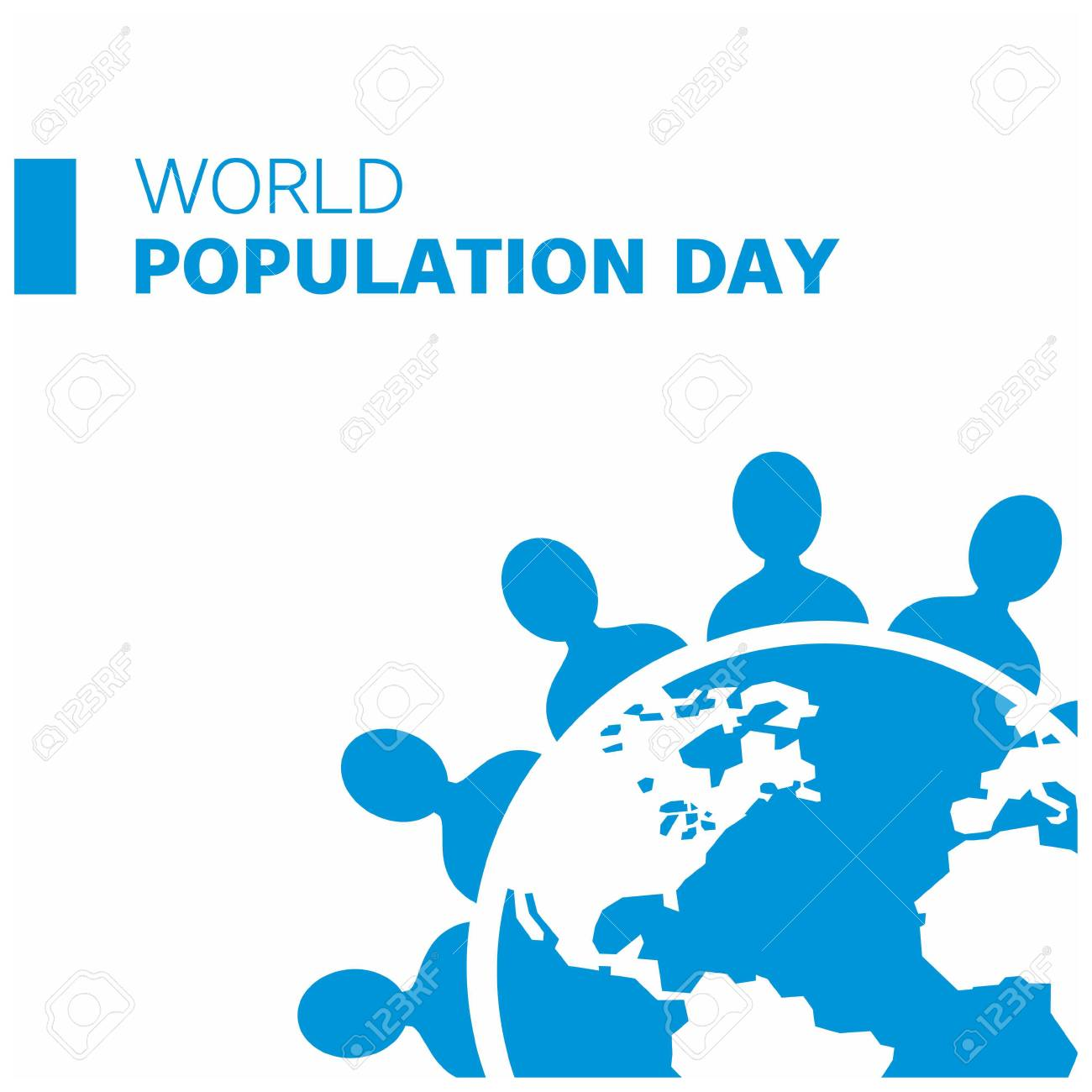 Art Poster World Population Day