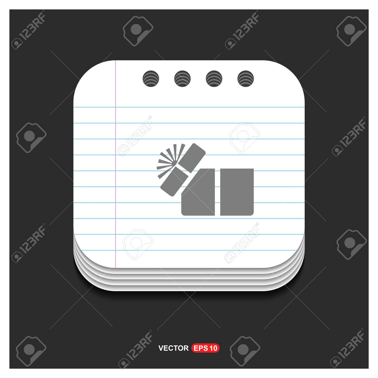 Gift Box Icon Free Vector Icon Royalty Free Cliparts Vectors And Stock Illustration Image 112032096