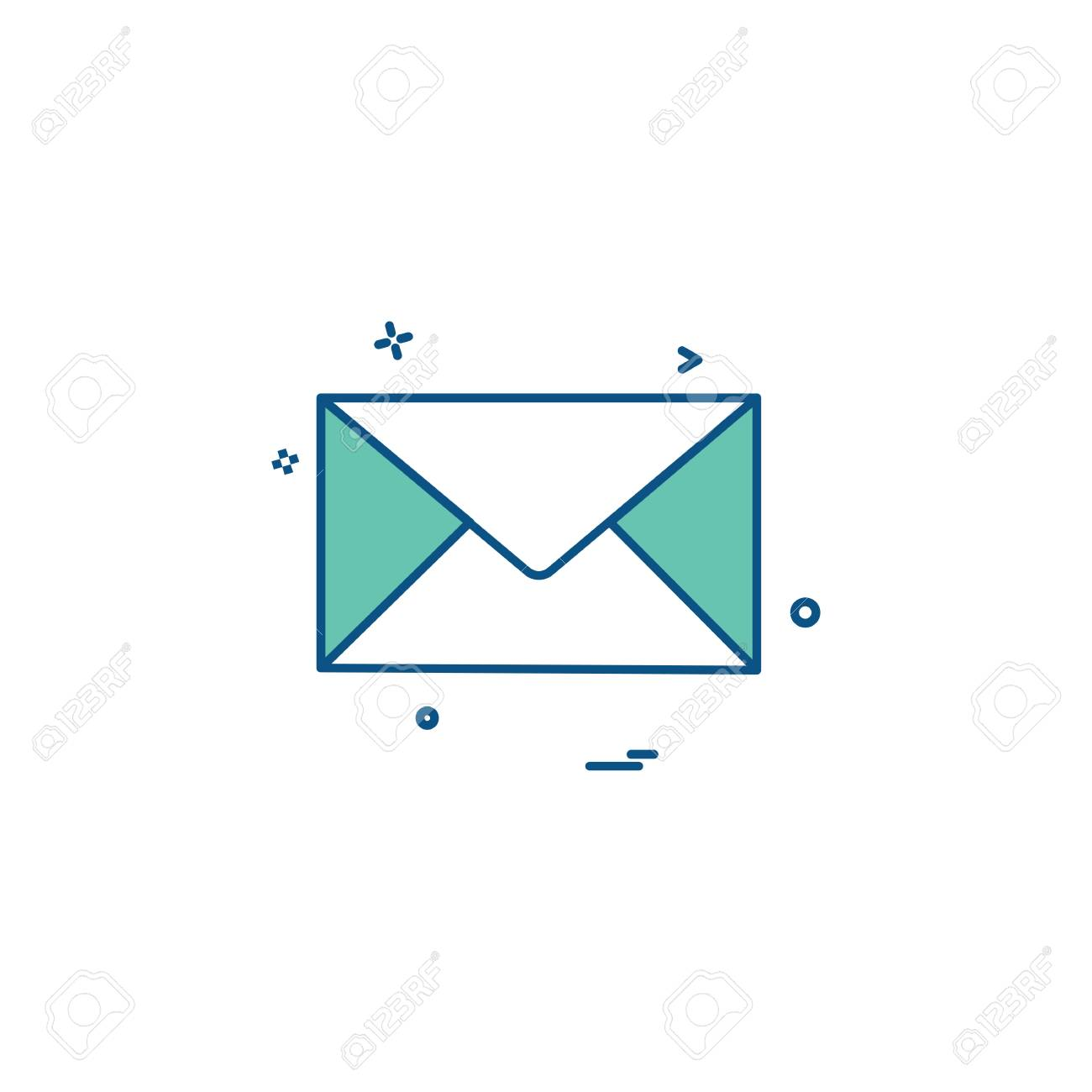 email mail letter icon vector design royalty free cliparts, vectors