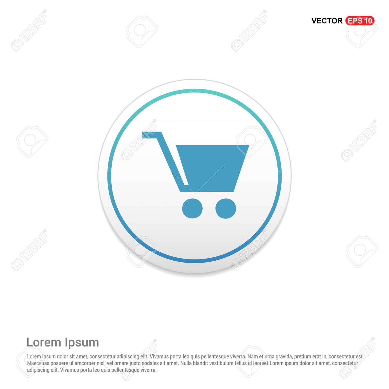 Shopping Cart Icon Hexa White Background Template