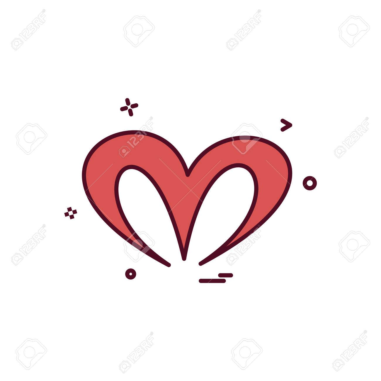 Christmas Heart Vector.Christmas Heart Icon Design Vector