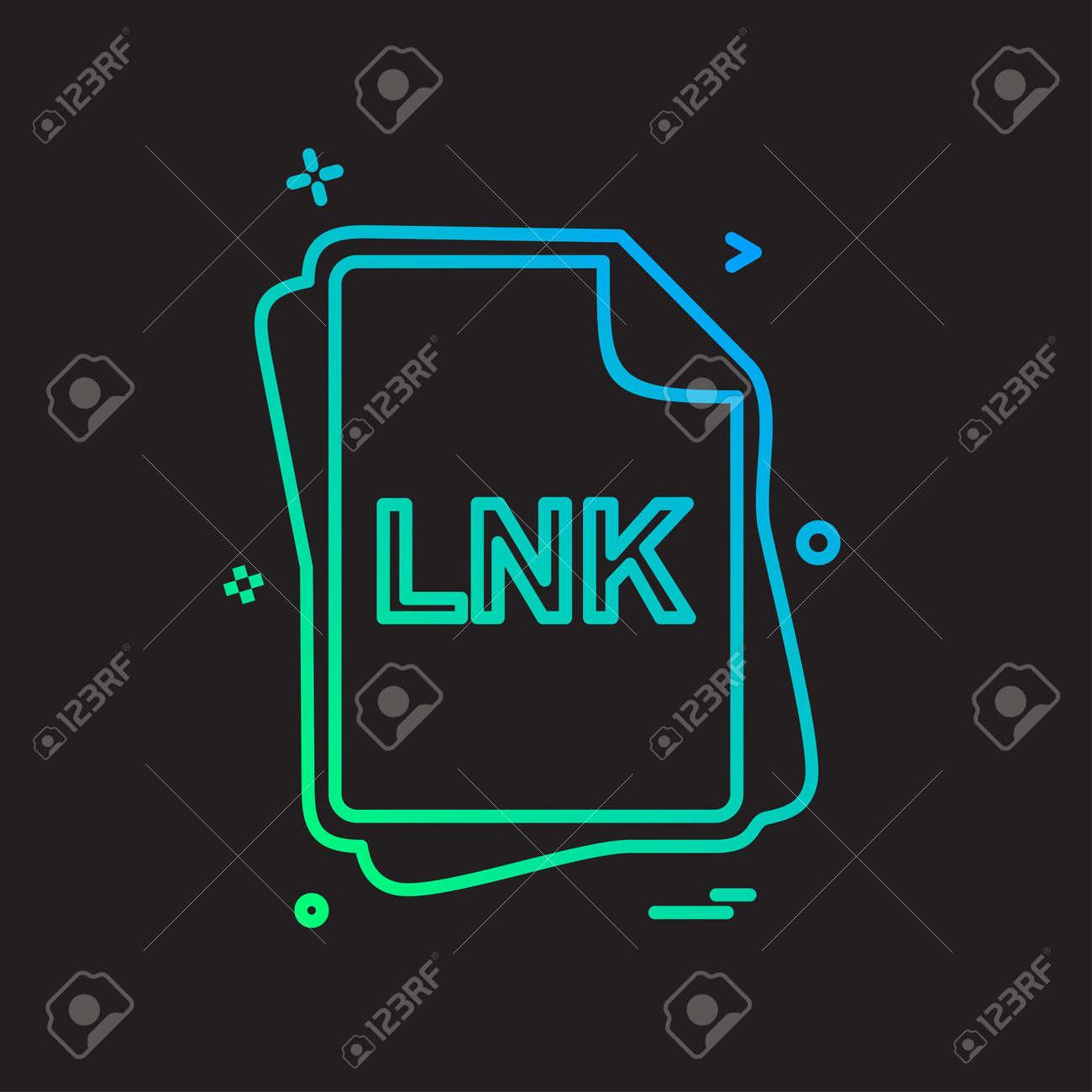 LNK file type icon design vector - 118252659