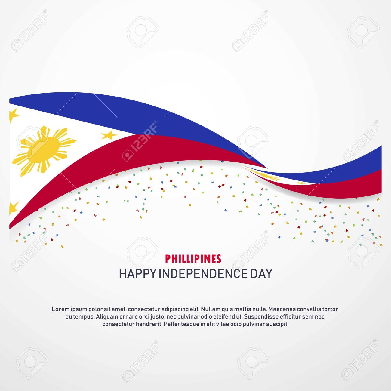 Phillipines Happy independence day Background - 118264307