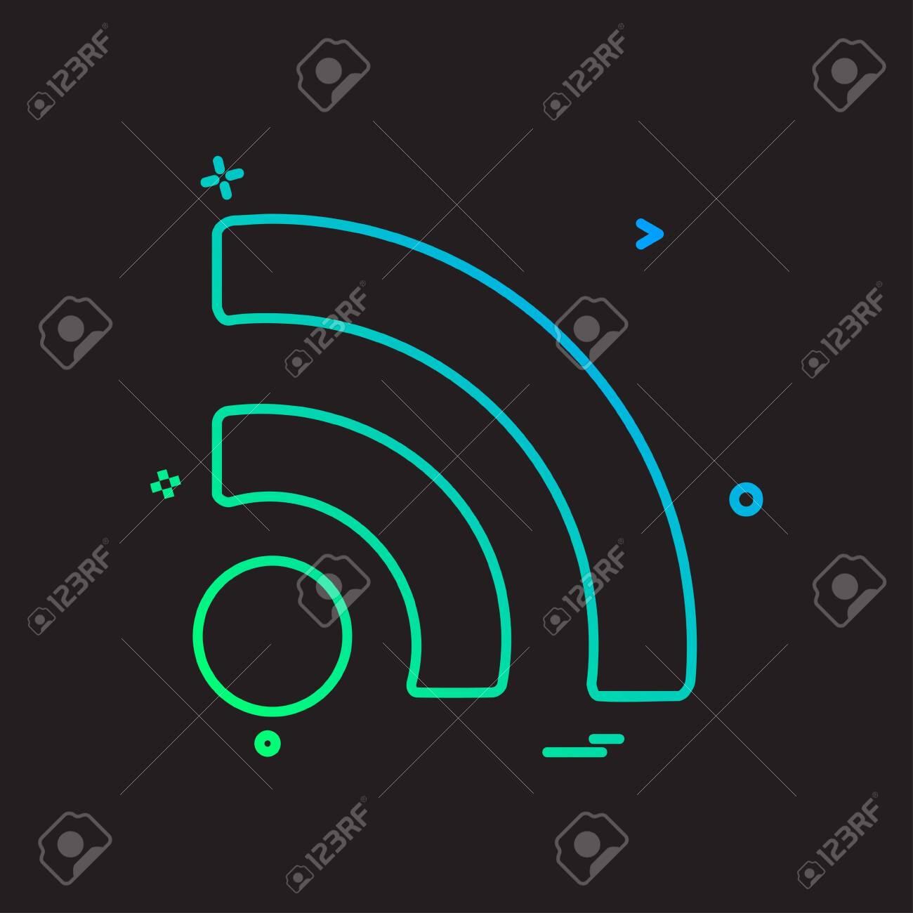 Wifi icon design vector - 150424653