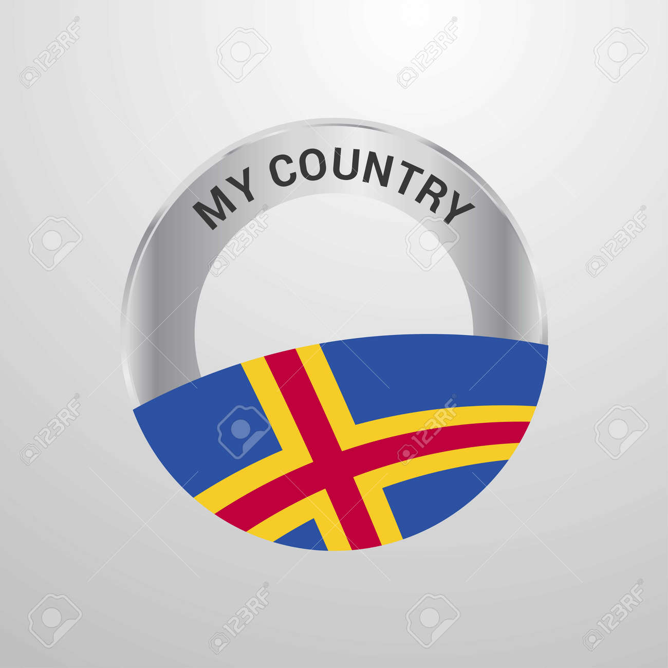 Aland My Country Flag badge - 118297996
