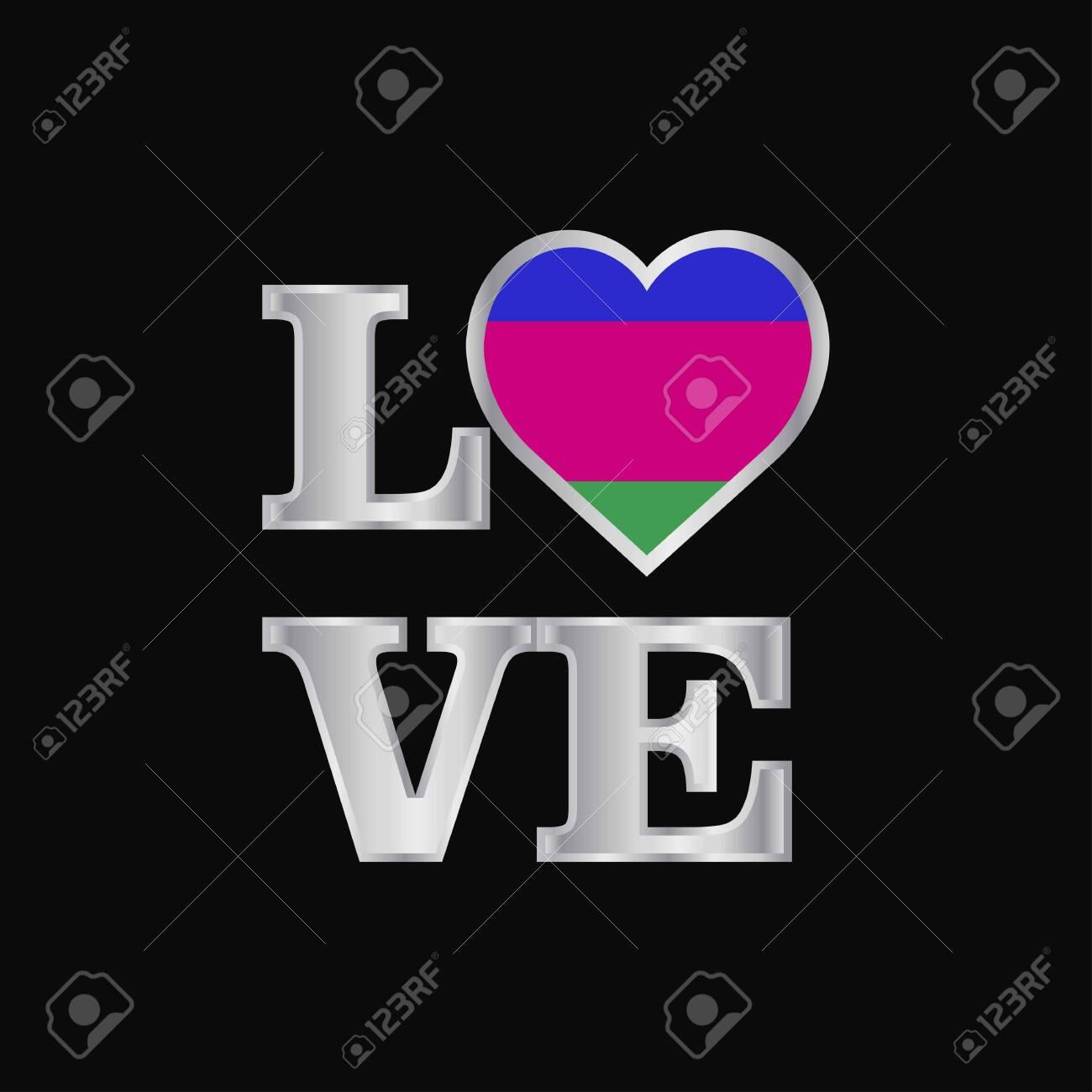 Love typography Kuban Peoples Republic flag design vector beautiful lettering - 118298389