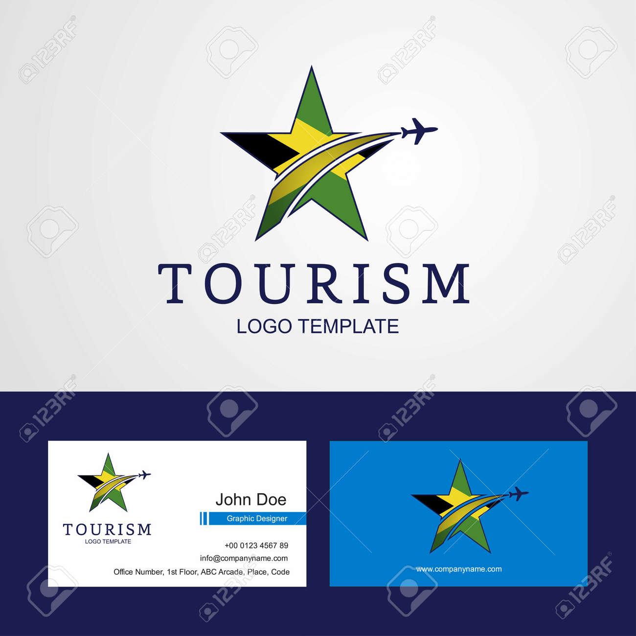 Travel Jamaica Flag Creative Star Logo And Business Card Design