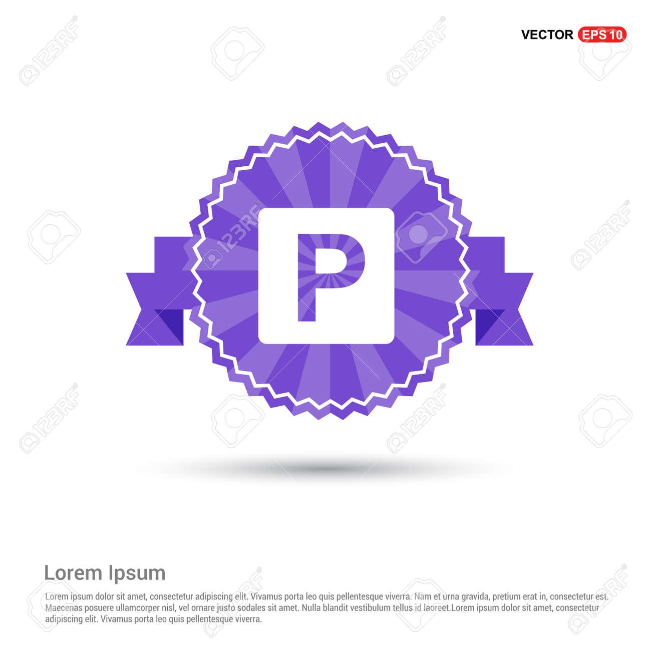 parking icon - Purple Ribbon banner - 115345406