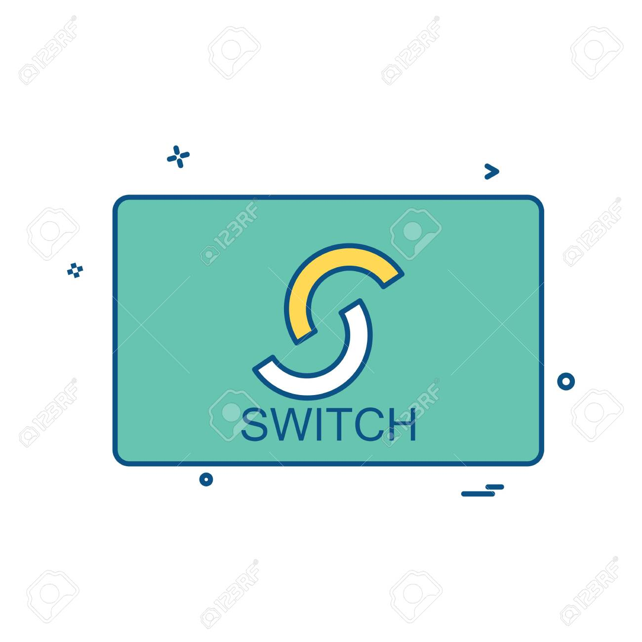 Switch card icon design vector - 150424702