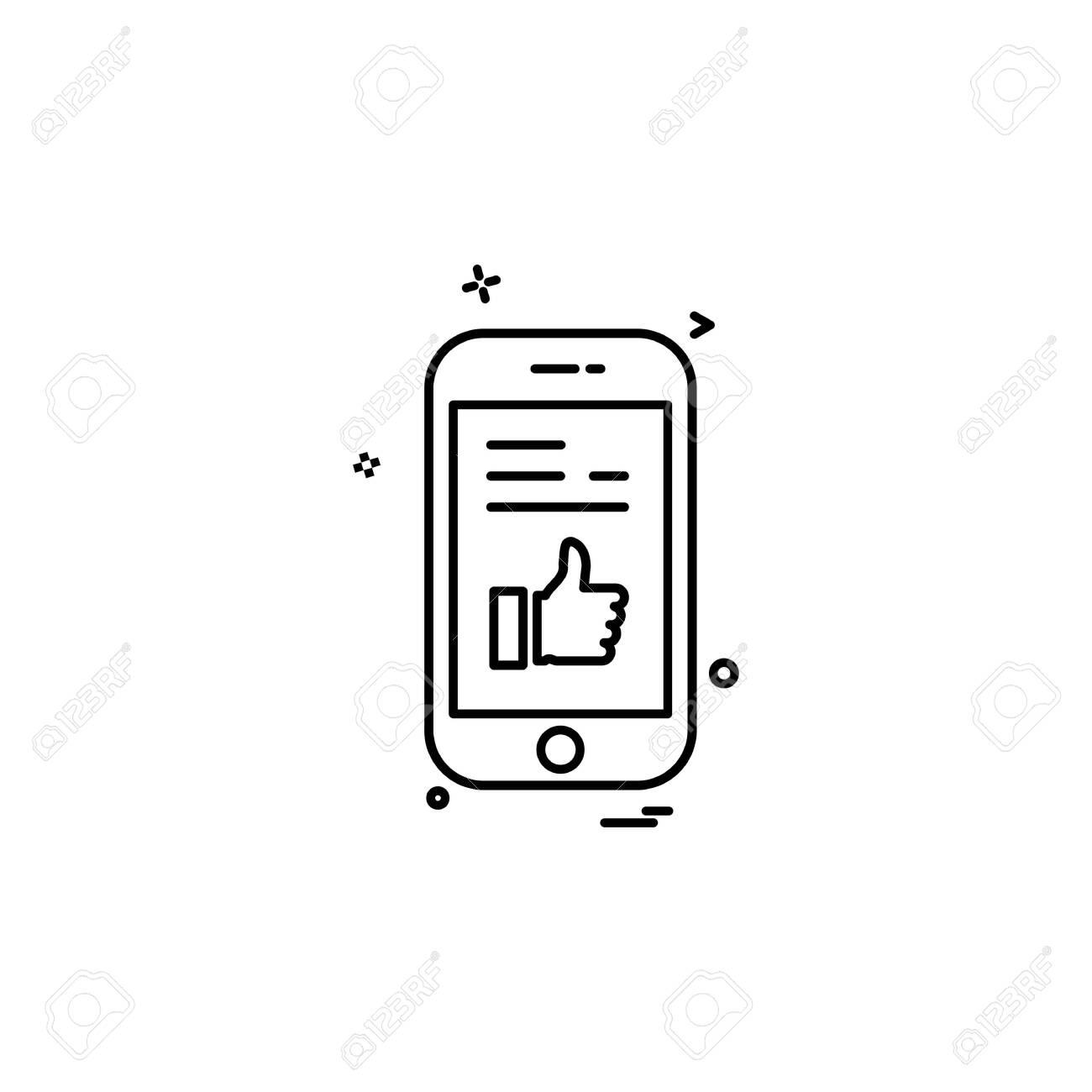Smart phone icon design vector - 148008302