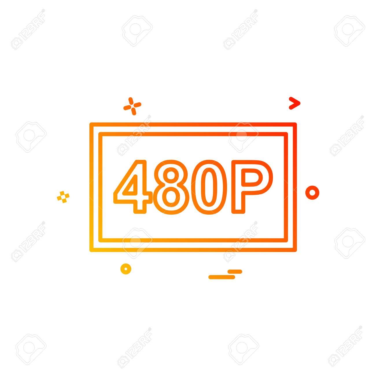 480p video icon design vector - 148008421