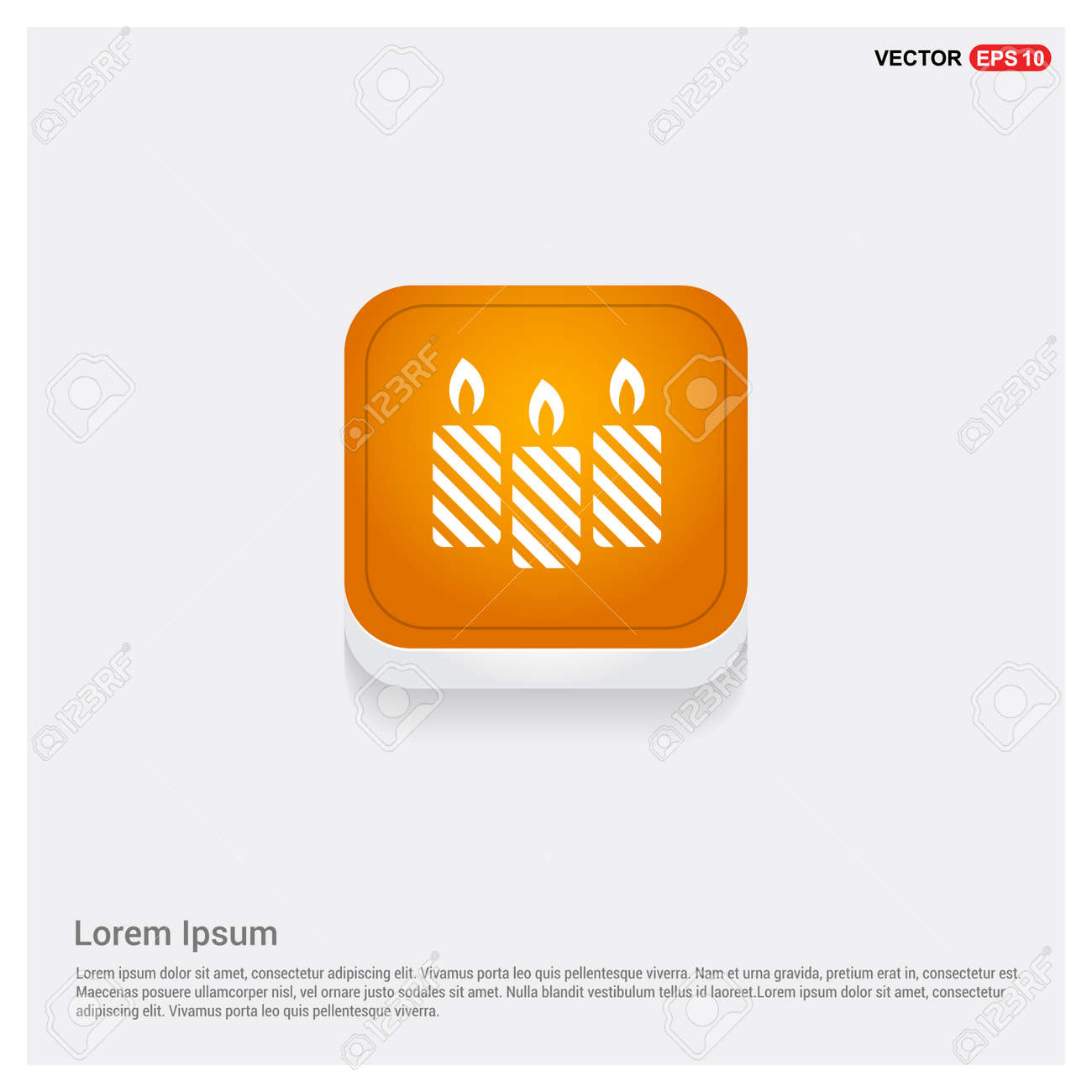 Candle icon - 118350437