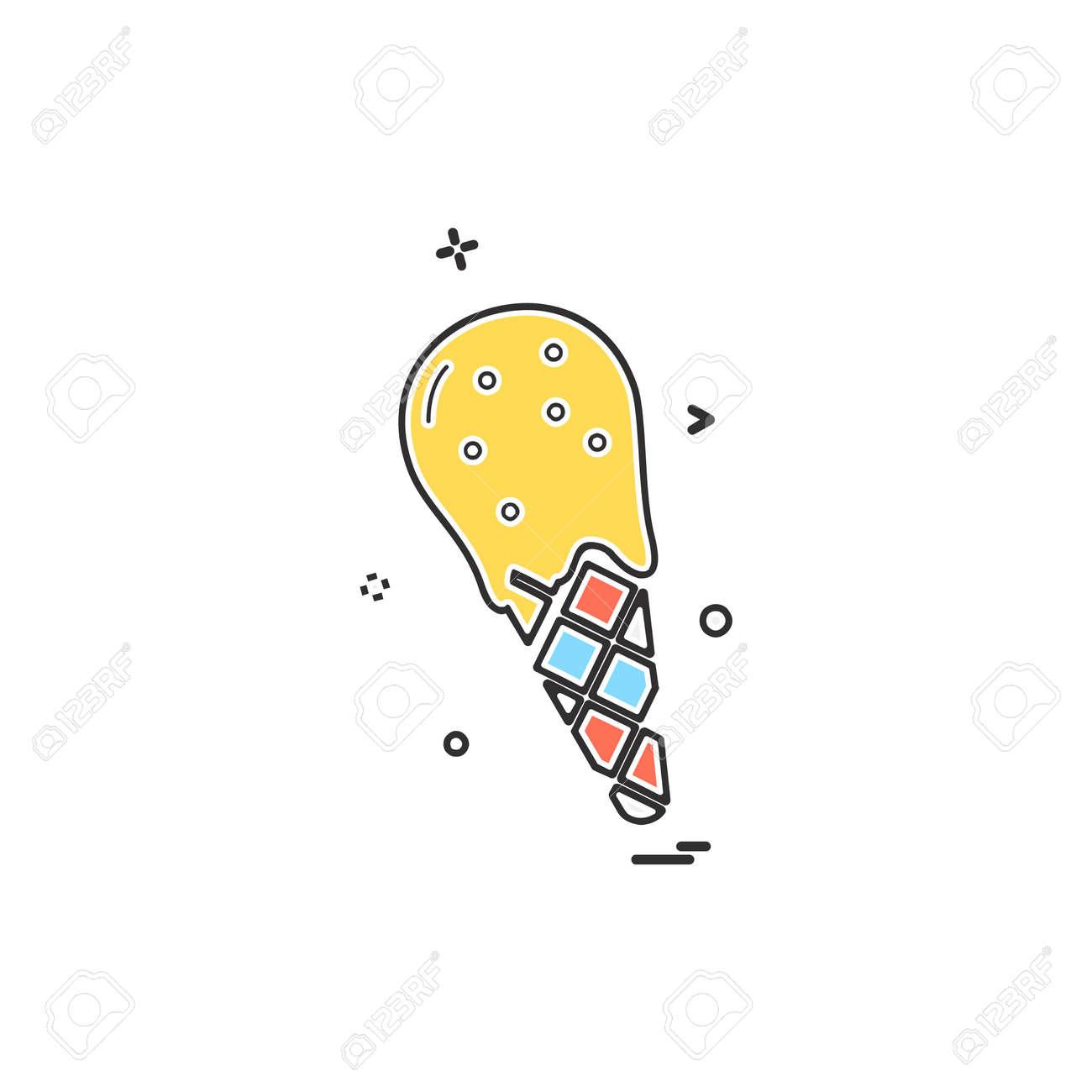 Icecream icon design vector - 118353436