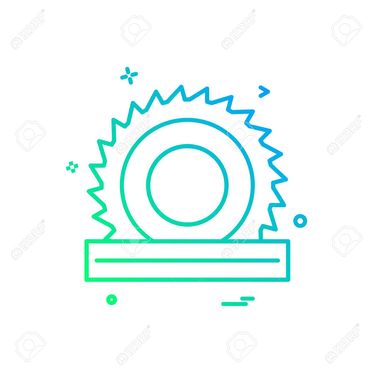 Wood Cutter Icon Vector Design