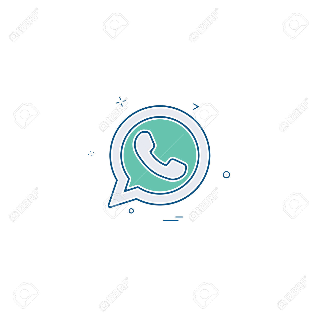 Whatsapp icon design vector - 114590591