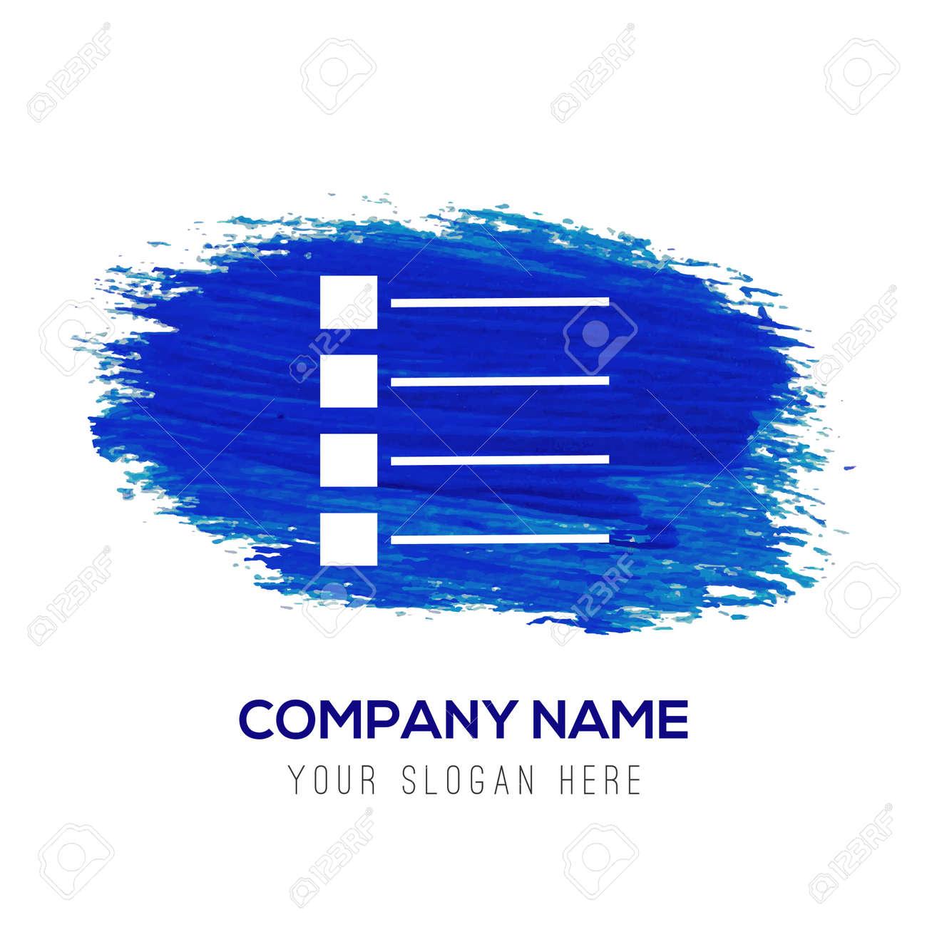 menu icon - Blue watercolor background - 122160181