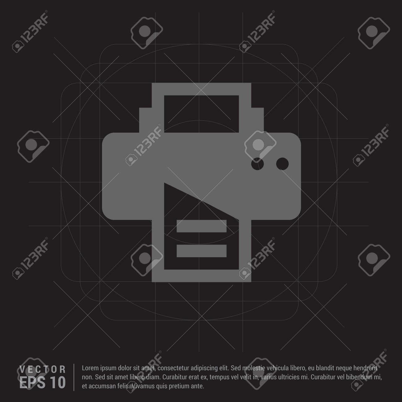 Office printer icon - 122160321