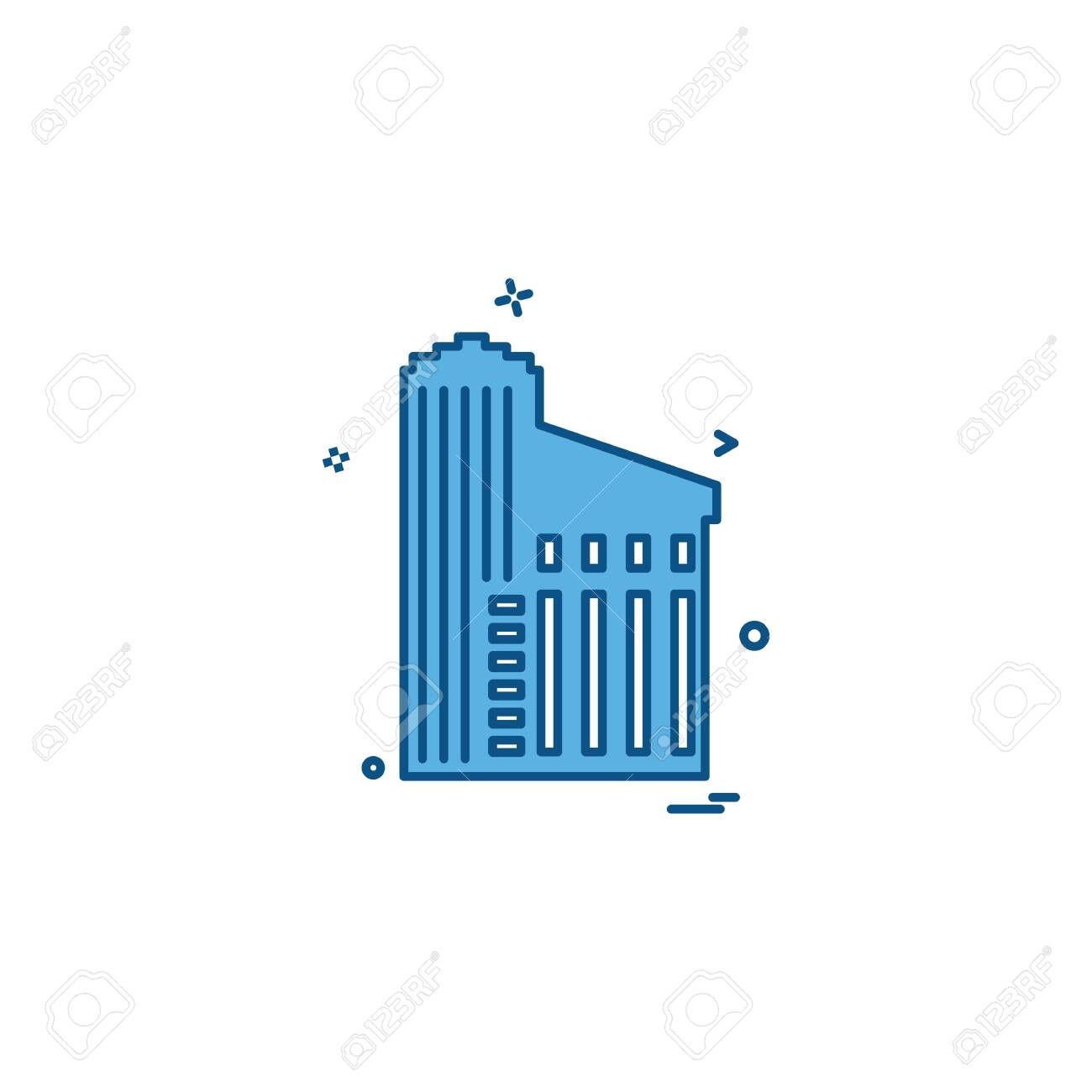 Building icon design vector - 122160323