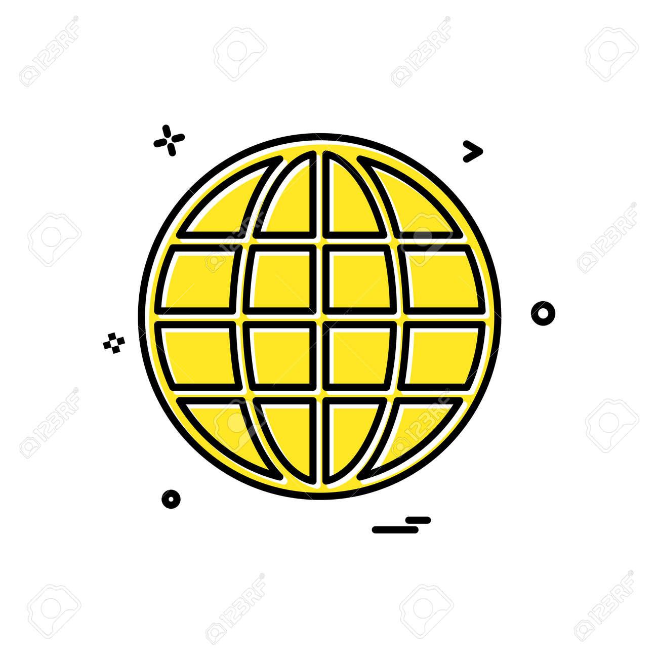 Globe icon design vector - 122160336