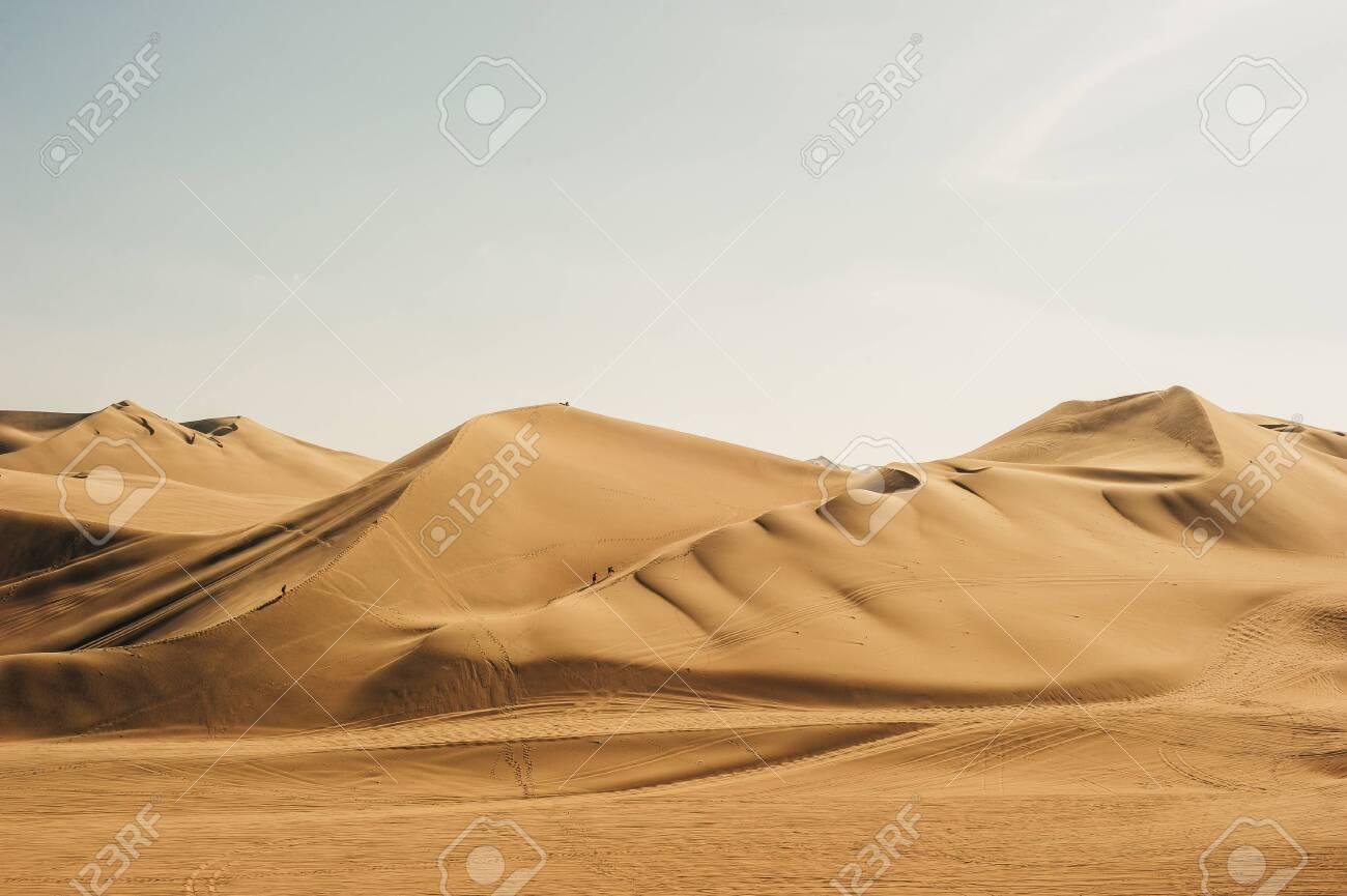 Landscape of Huacachina desert. in Ica, Peru - 141280994