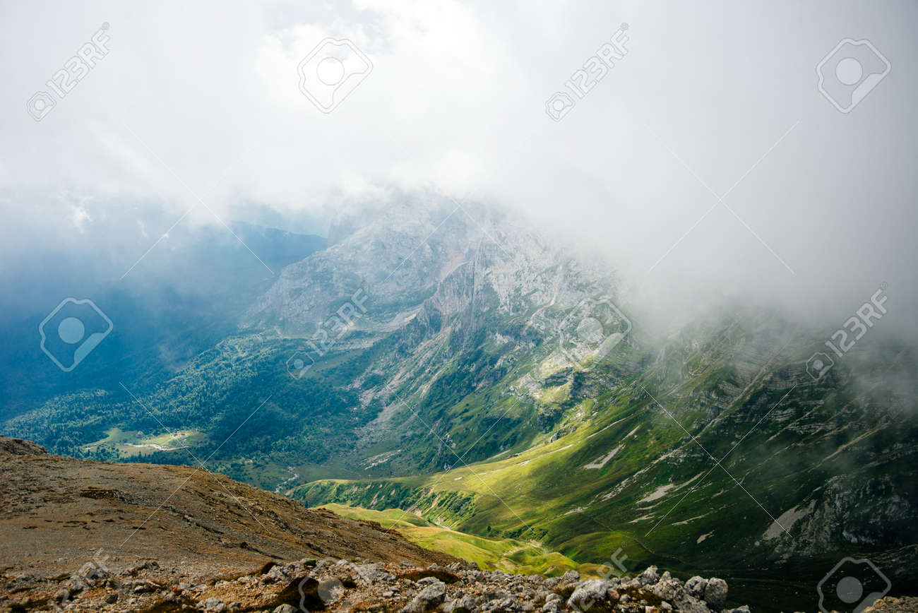 Mountains of Republic of Adygea, Russia. Yavorova Polyana. Walking route and beauty of Adygea. Caucasian mountains. The Caucasian reserve. Caucasian ridge. Mountain Lake. Lagonaki - 169524069