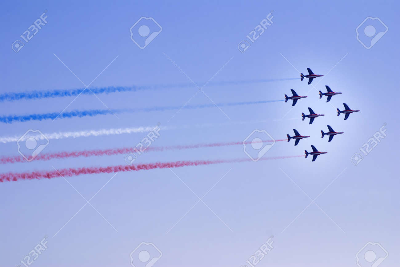 Airplanes show in Barcelona Spain  Flying exhibition  Stock Photo - 15724302
