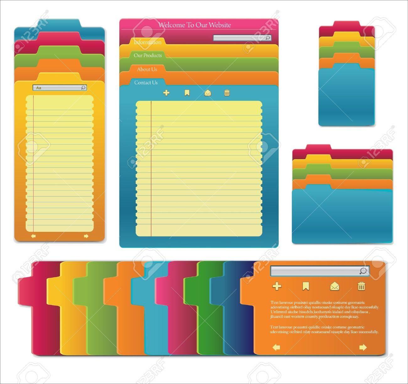 Set Of website template design Stock Vector - 15362200