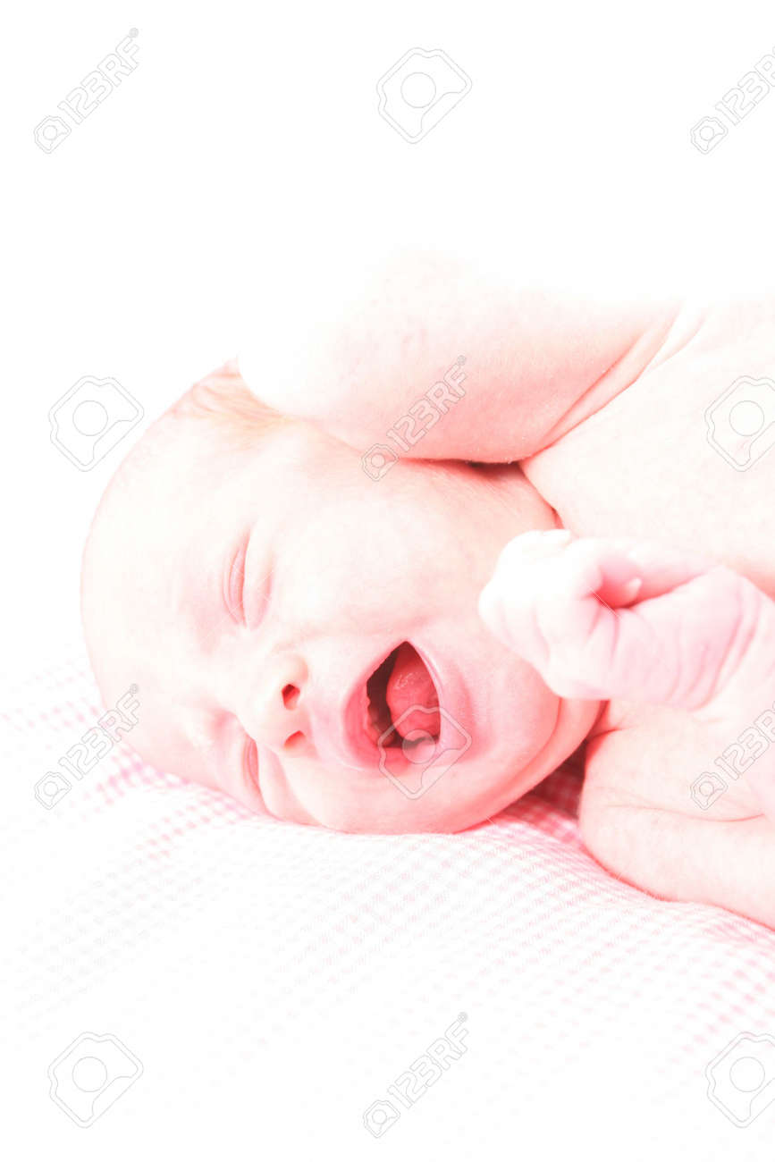 Baby isolated agains white Stock Photo - 329447