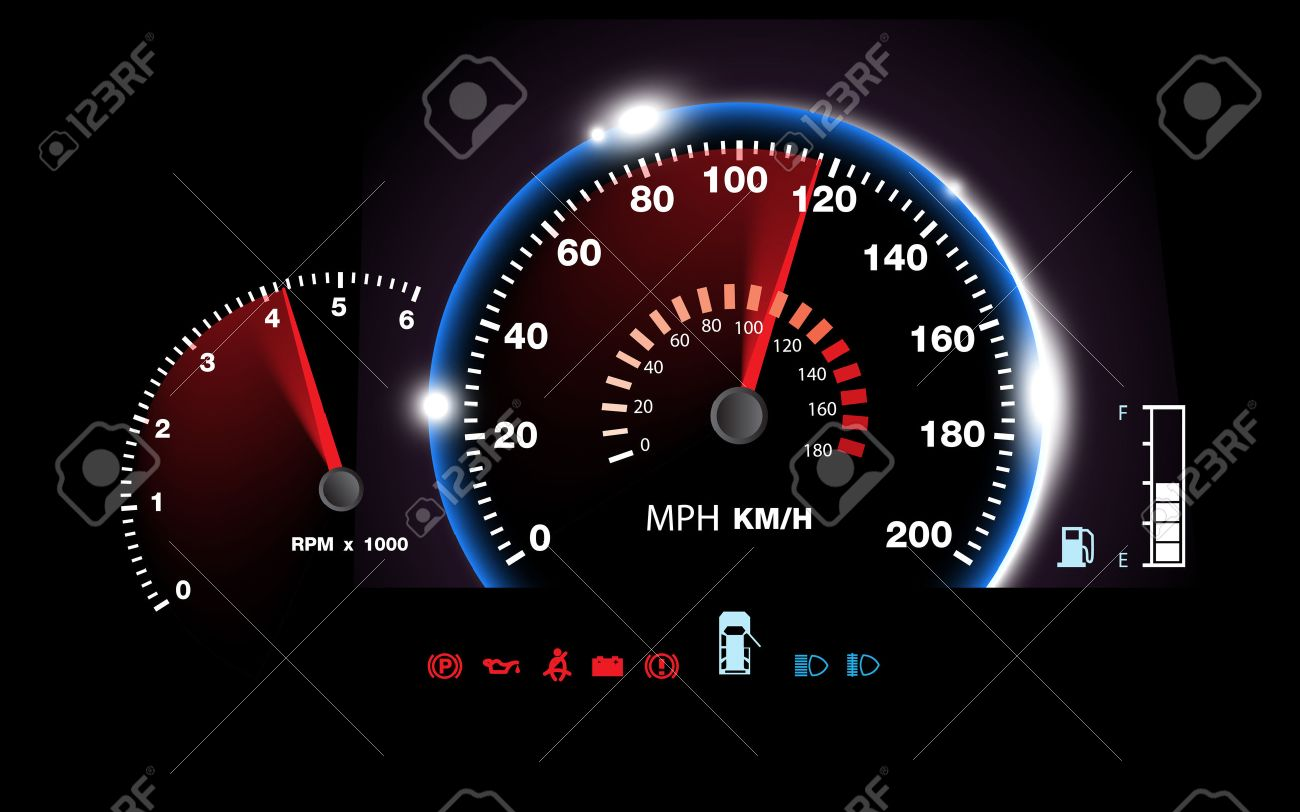 abstract car speedometer background vector royalty free cliparts