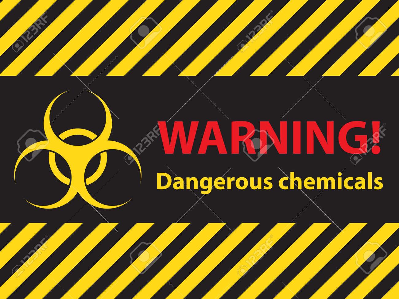 warning dangerous chemicals sign, illustration vector - 48706970