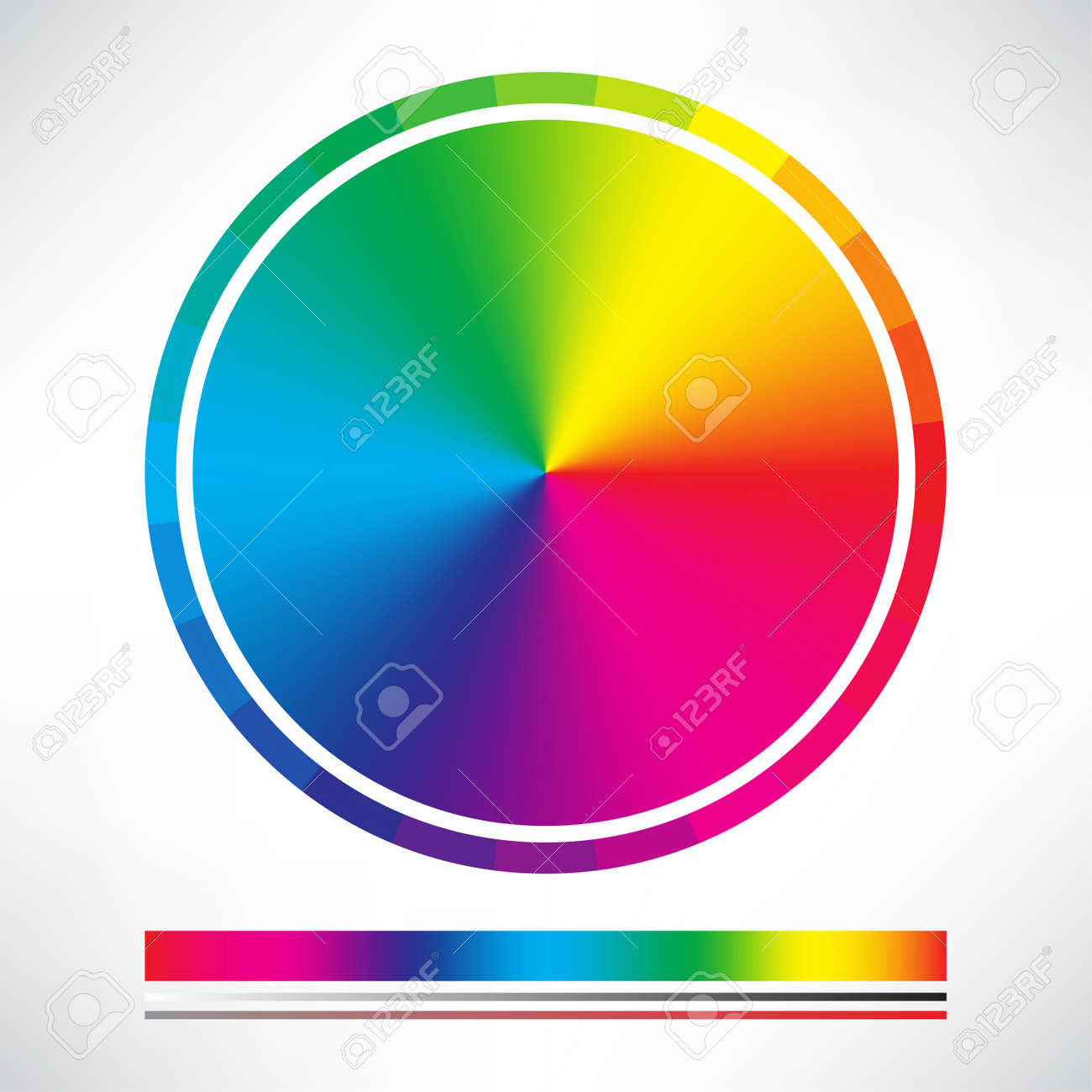 Color chart rainbow - Color Chart And Color Wheel Circle Vector Stock Vector 50576171