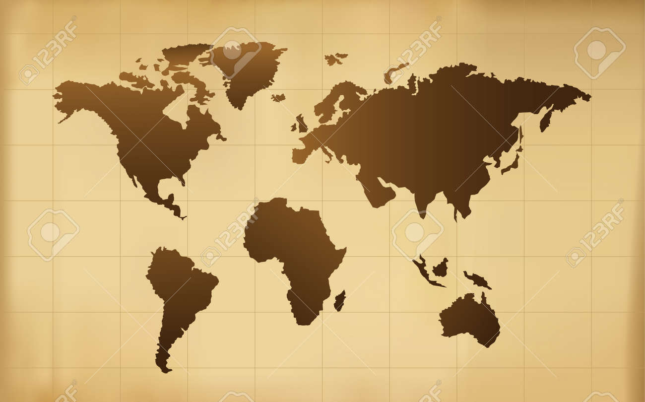 The old world map vector background royalty free cliparts vectors the old world map vector background stock vector 52021404 gumiabroncs Images