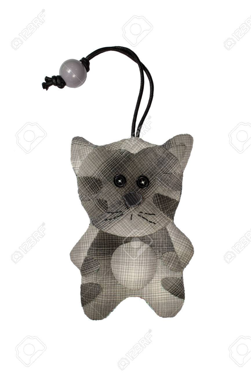 Quilt : Key Cover Cat (Grey) Isolated On White Background Stock ... : key cover quilt - Adamdwight.com