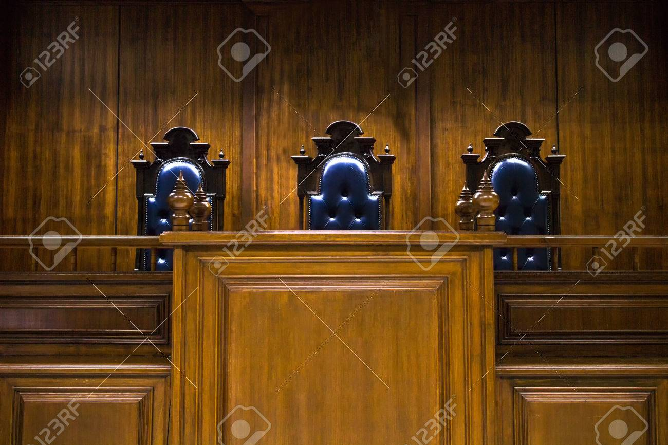 Empty bench with judge chairs in courtroom Stock Photo - 64841394 & Empty Bench With Judge Chairs In Courtroom Stock Photo Picture And ...