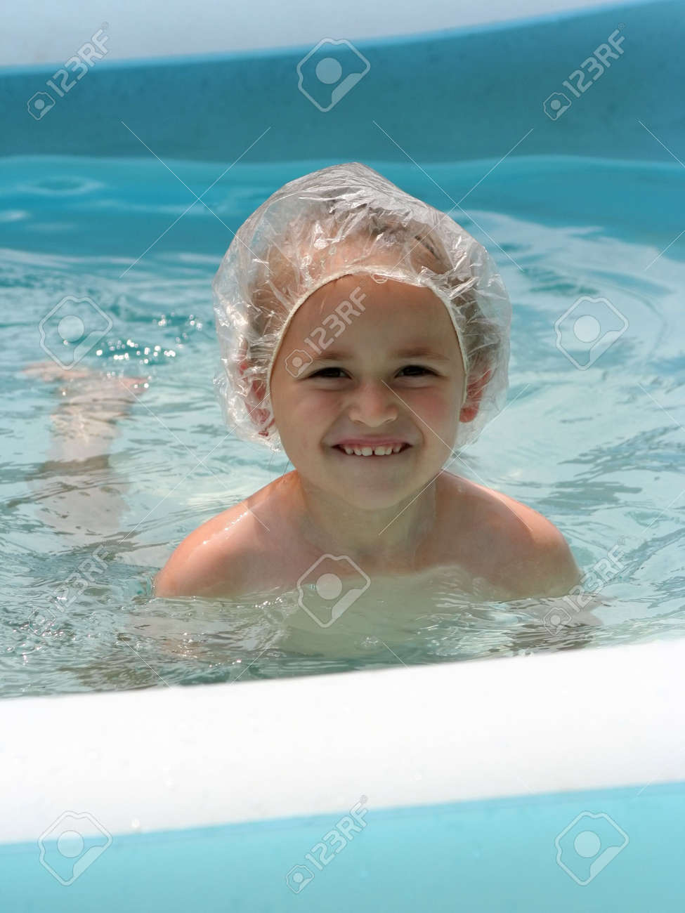 Girl in the pool Stock Photo - 483610