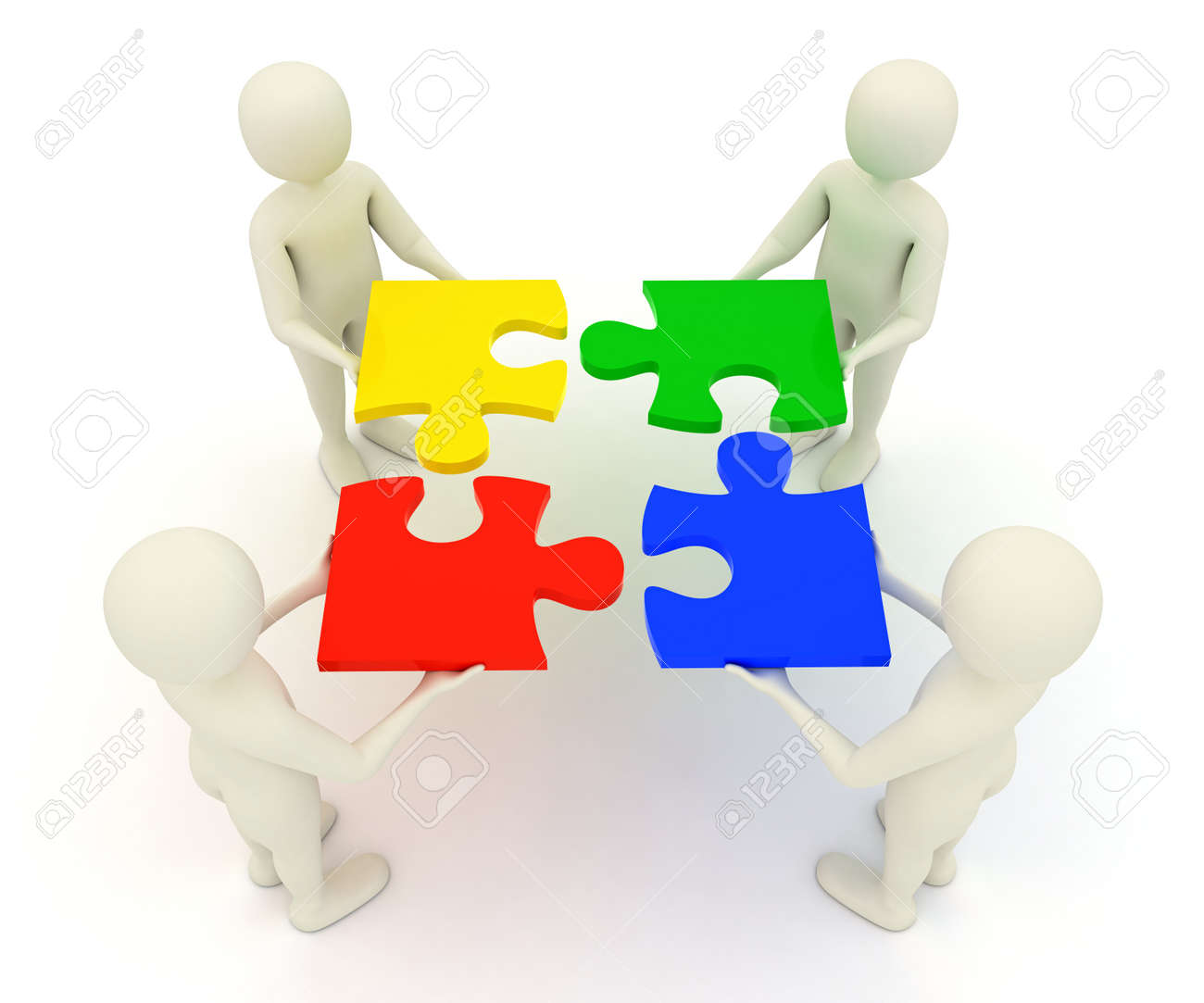 Jigsaw Puzzle Pieces Coming Together Jigsaw Puzzle Pieces Stock