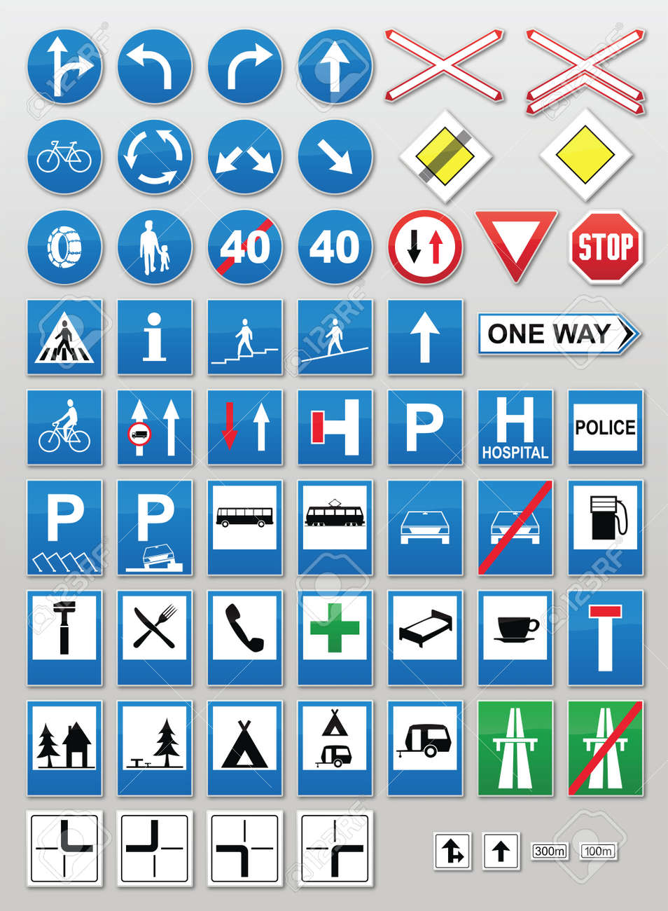 Traffic sign collection: Information Stock Vector - 10833650