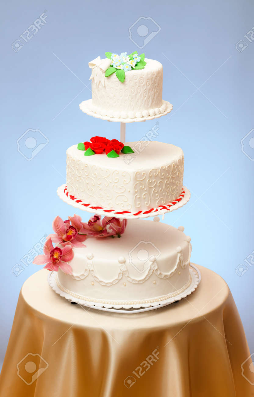 Various Wedding Cakes Models On Multi Stored Stage Stock Photo Picture And Royalty Free Image Image 14831751