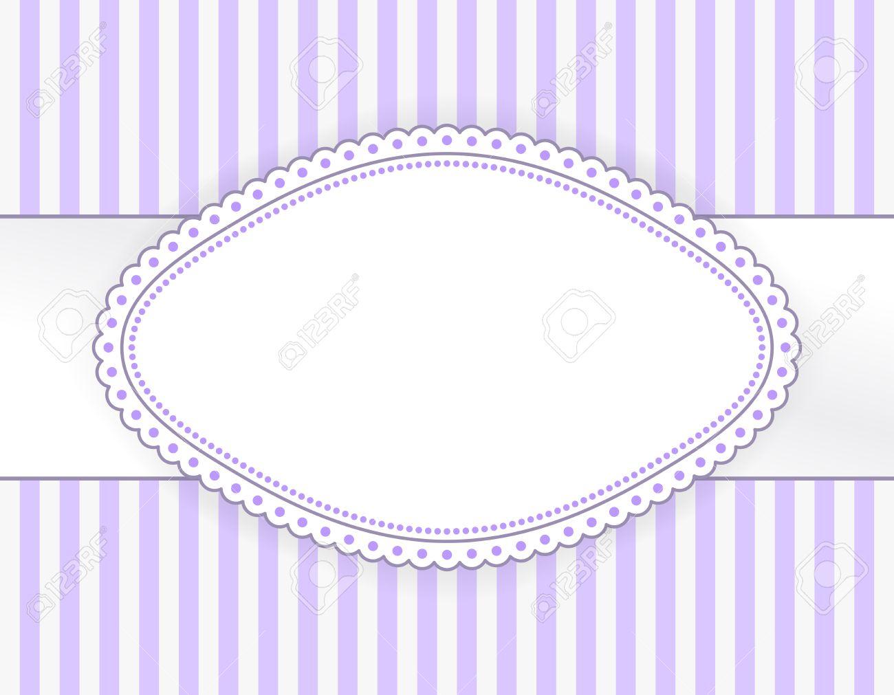 Etiqueta De Color Púrpura Oval Con Marco De Puntos En El Fondo De ...