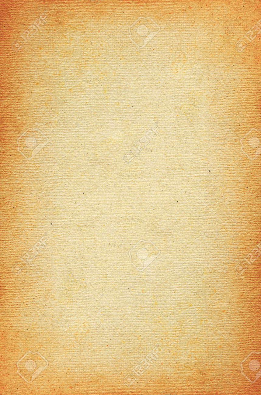 Vintage Brown Heavily Textured Paper Sheet Background Stock Photo