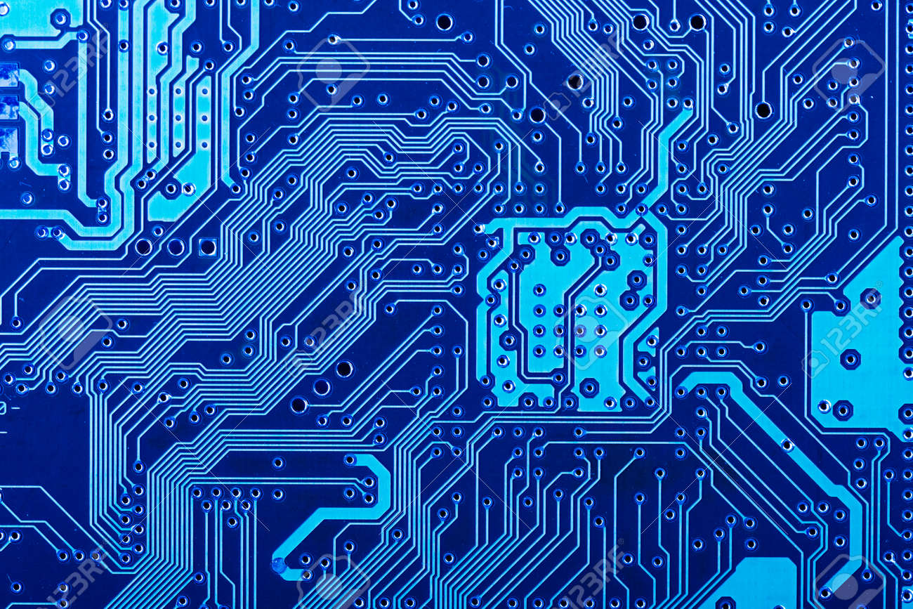 Circuito Impreso : Lado de la soldadura de la placa de circuito impreso electrónico