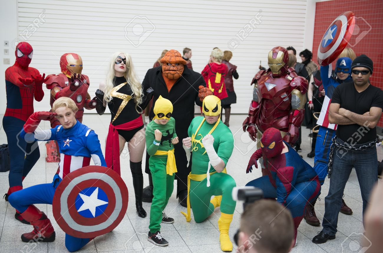 Most Participants Dress Up In Superhero Costumes To Compete In The Euro  Cosplay Championship.