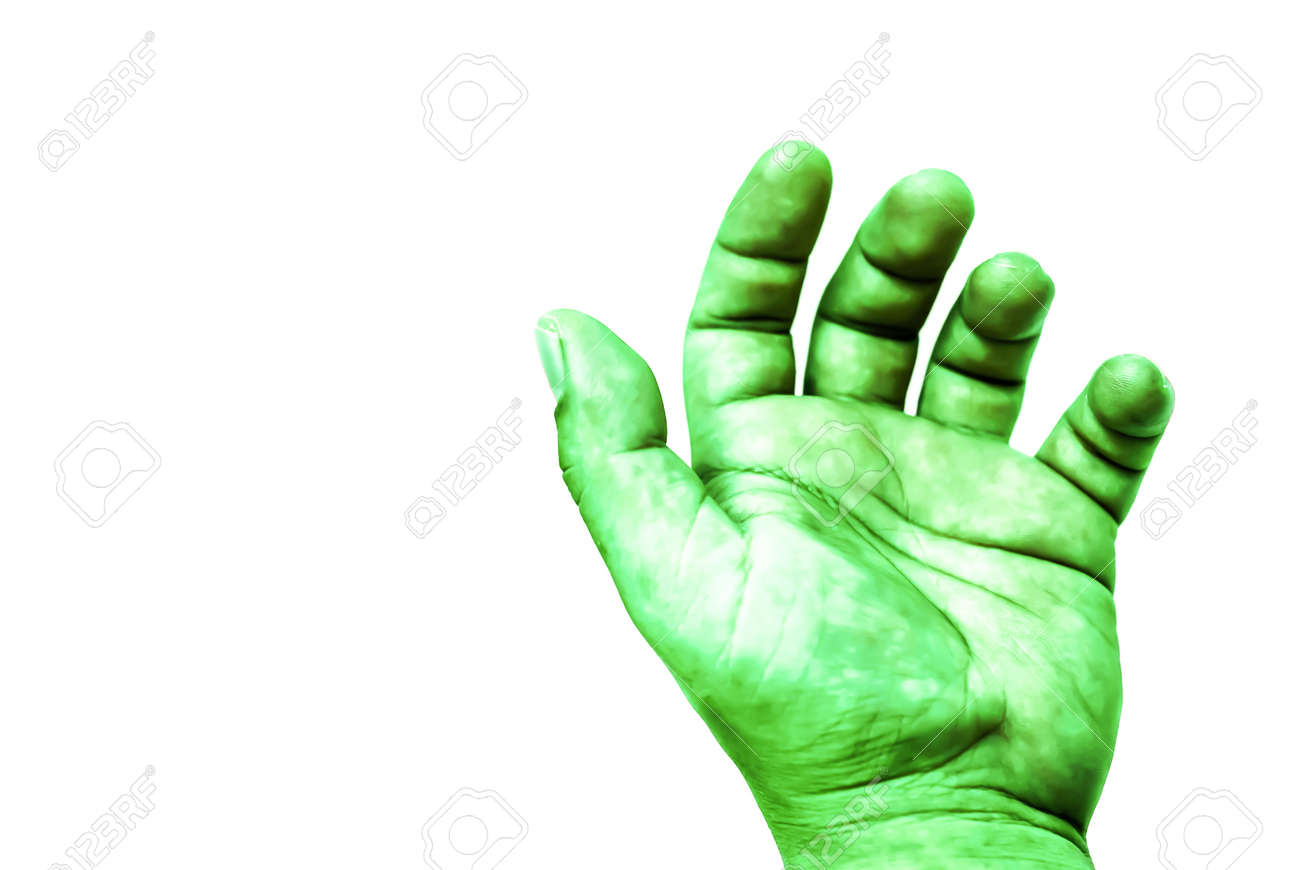 Isolate Hulk Fist On White Background Stock Photo Picture And