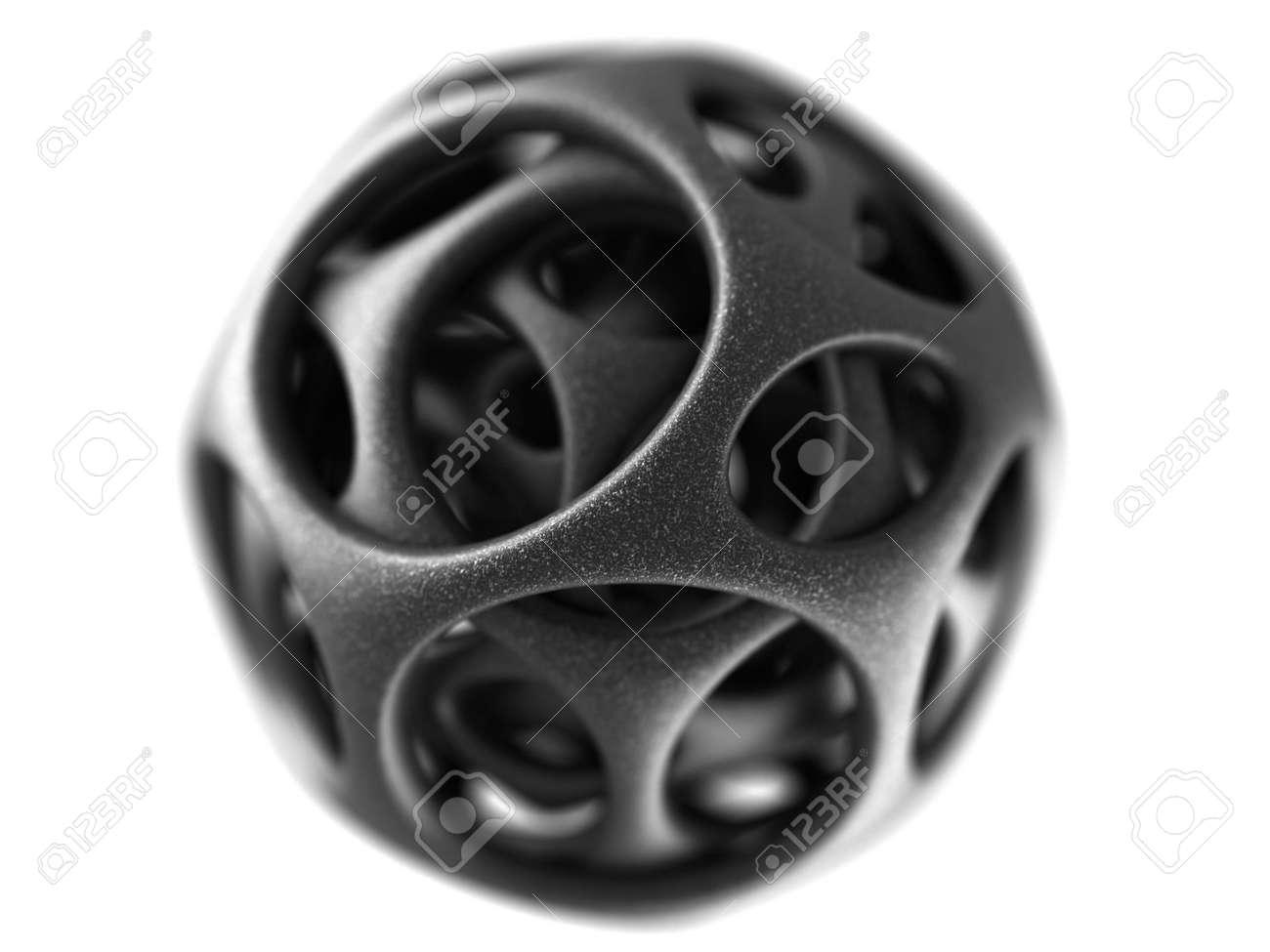 steel spherical designer made in 3D Stock Photo - 5694498