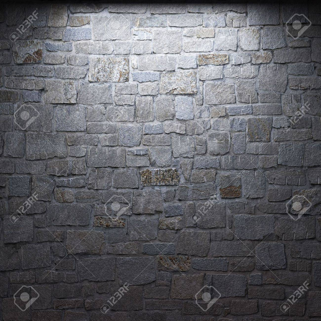 illuminated stone wall Stock Photo - 6318339
