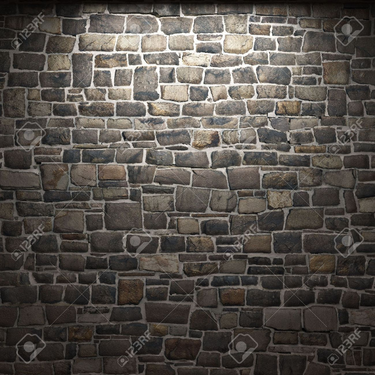 Illuminated Stone Wall Stock Photo, Picture And Royalty Free Image ...