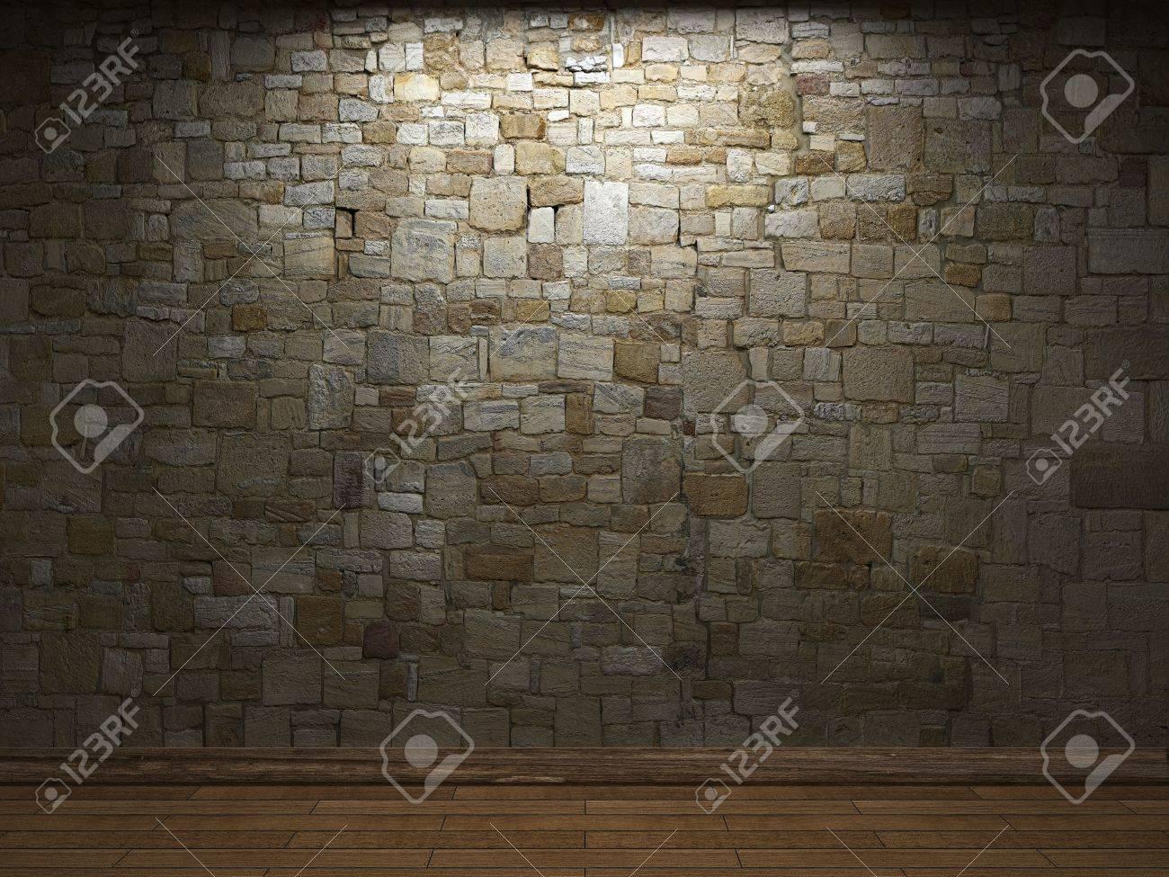 illuminated stone wall Stock Photo - 6318336