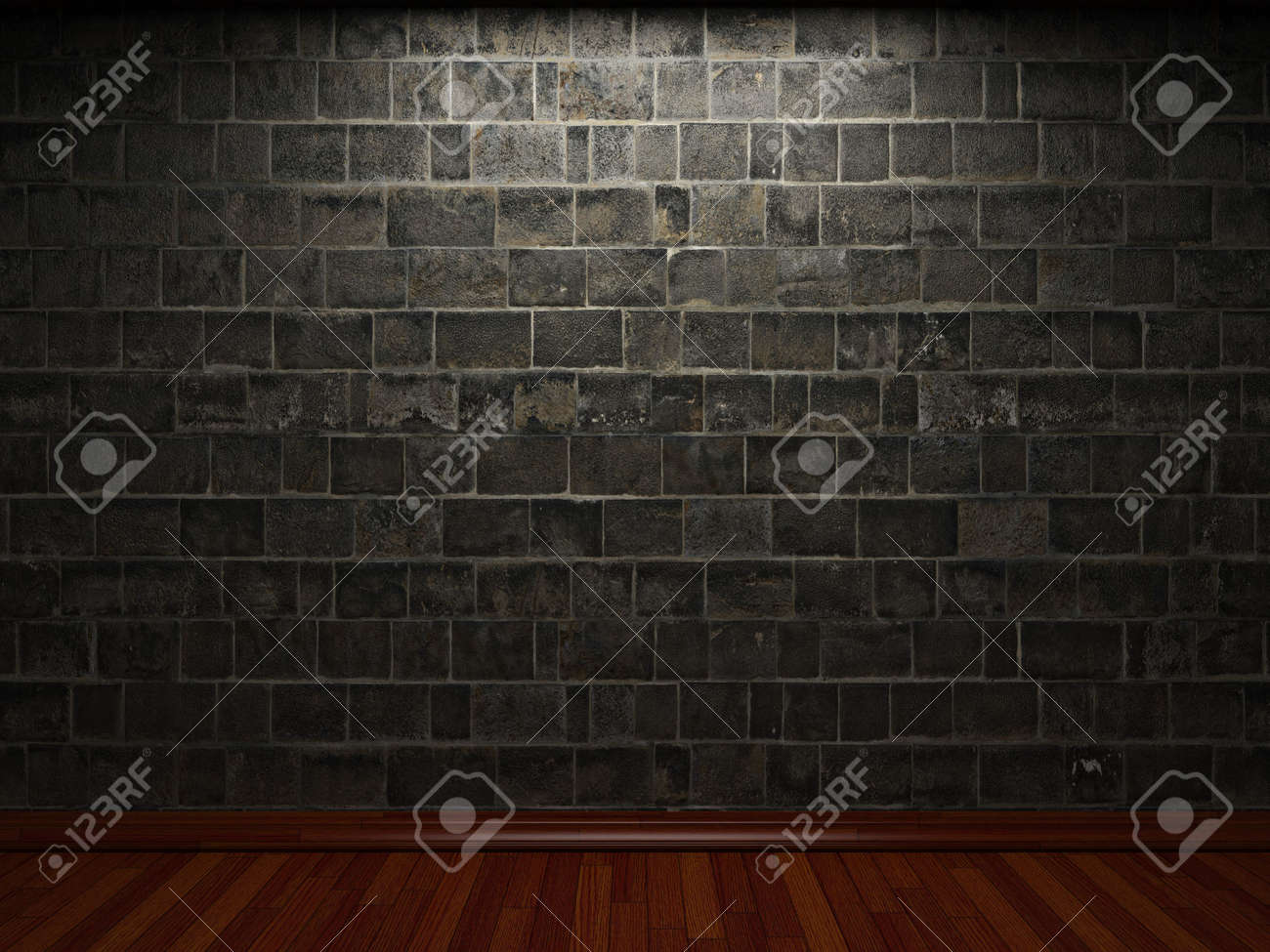 illuminated stone wall Stock Photo - 6369667