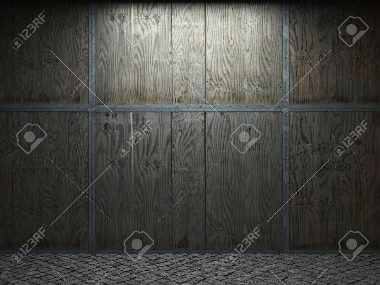 illuminated wooden wall Stock Photo - 6390740