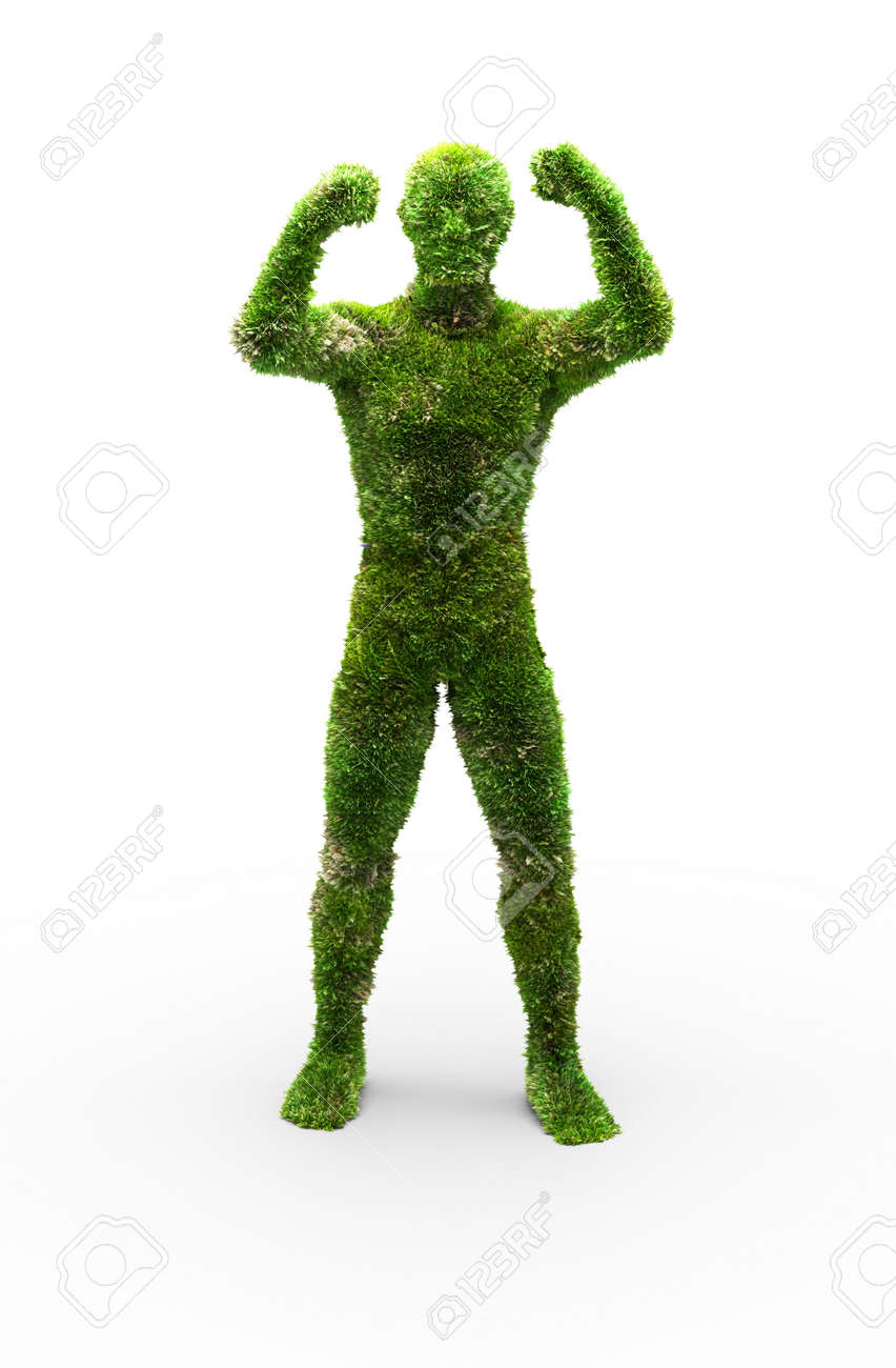 Herbal man made in 3D graphics Stock Photo - 6420379